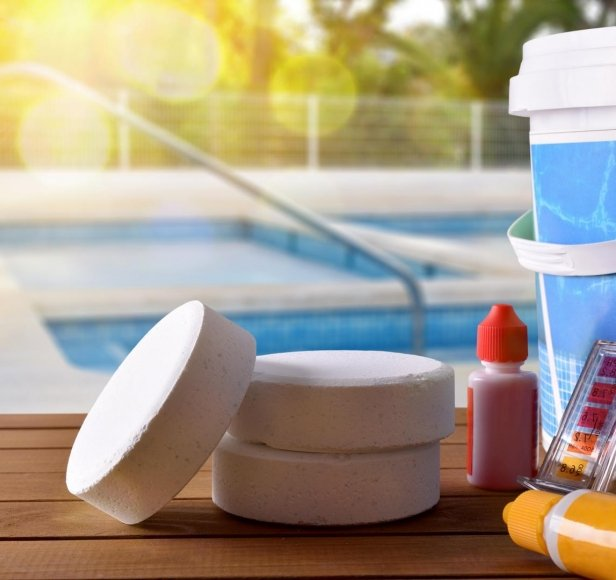 How often does the swimming pool need chlorine?