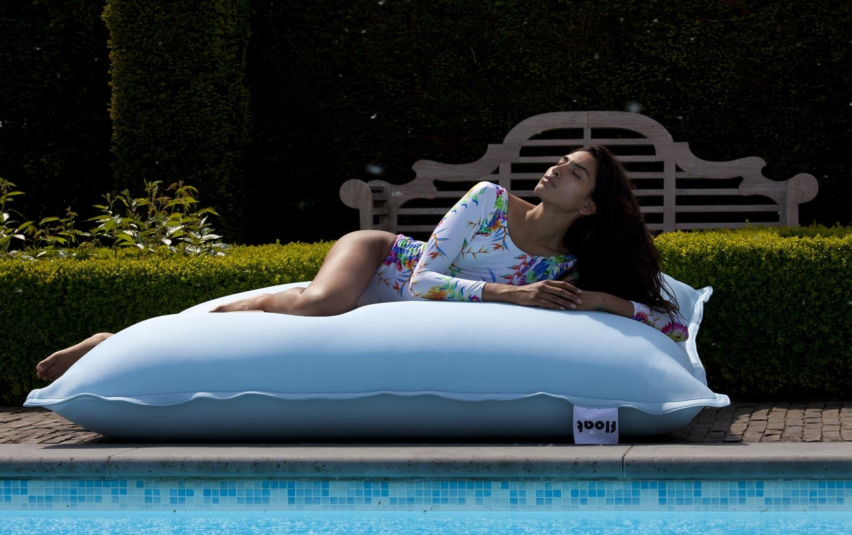 Sit In Pool Zitzak.Float Ice Blue Sit On It 150cmx140cm Webshop Swimmingpools Be
