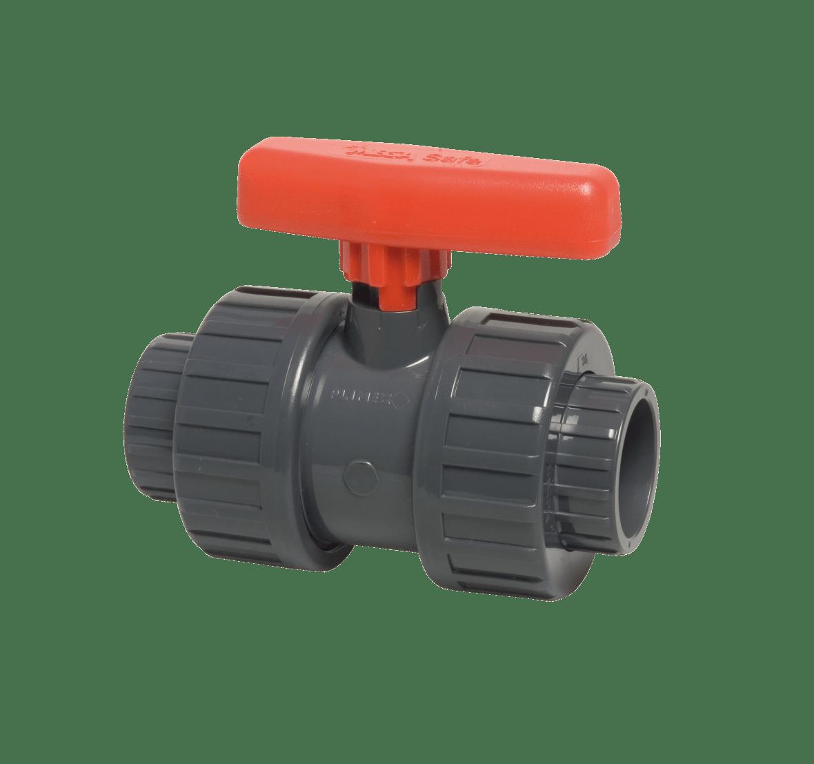 63 mm diameter PVC ball valve