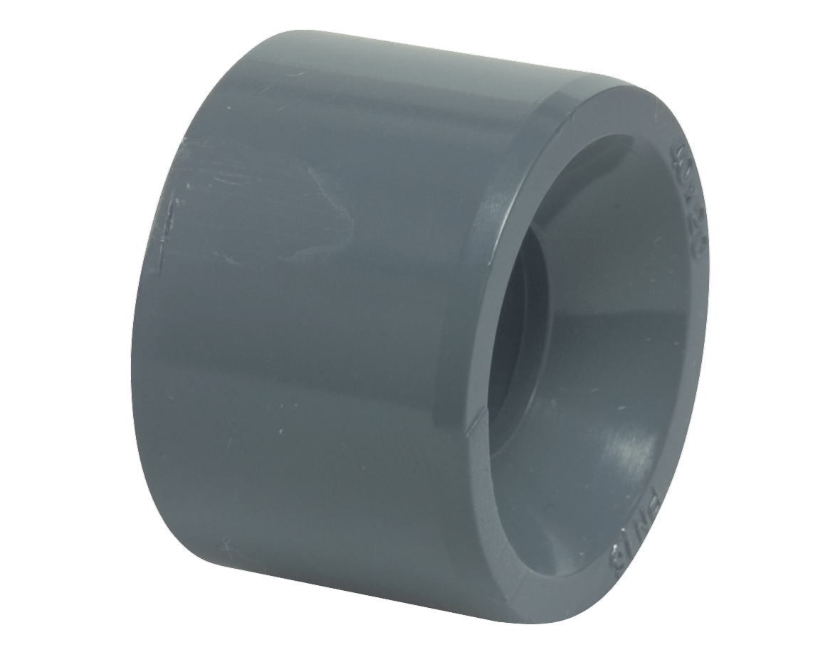 "Hard PVC 50 mm to 4/4"" reducer bushing"