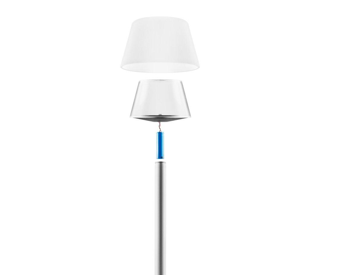 LED lamp on solar energy for in the garden