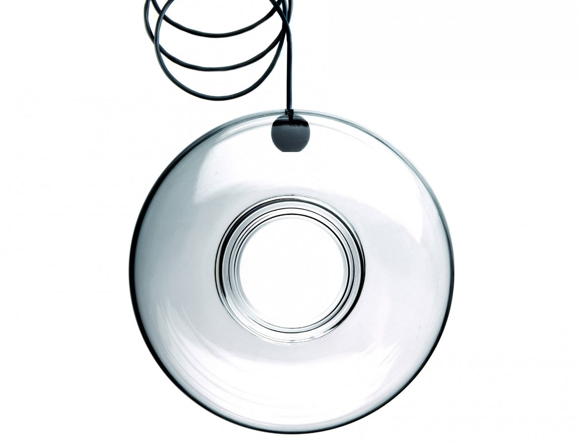 ring-shaped glass bird feeder