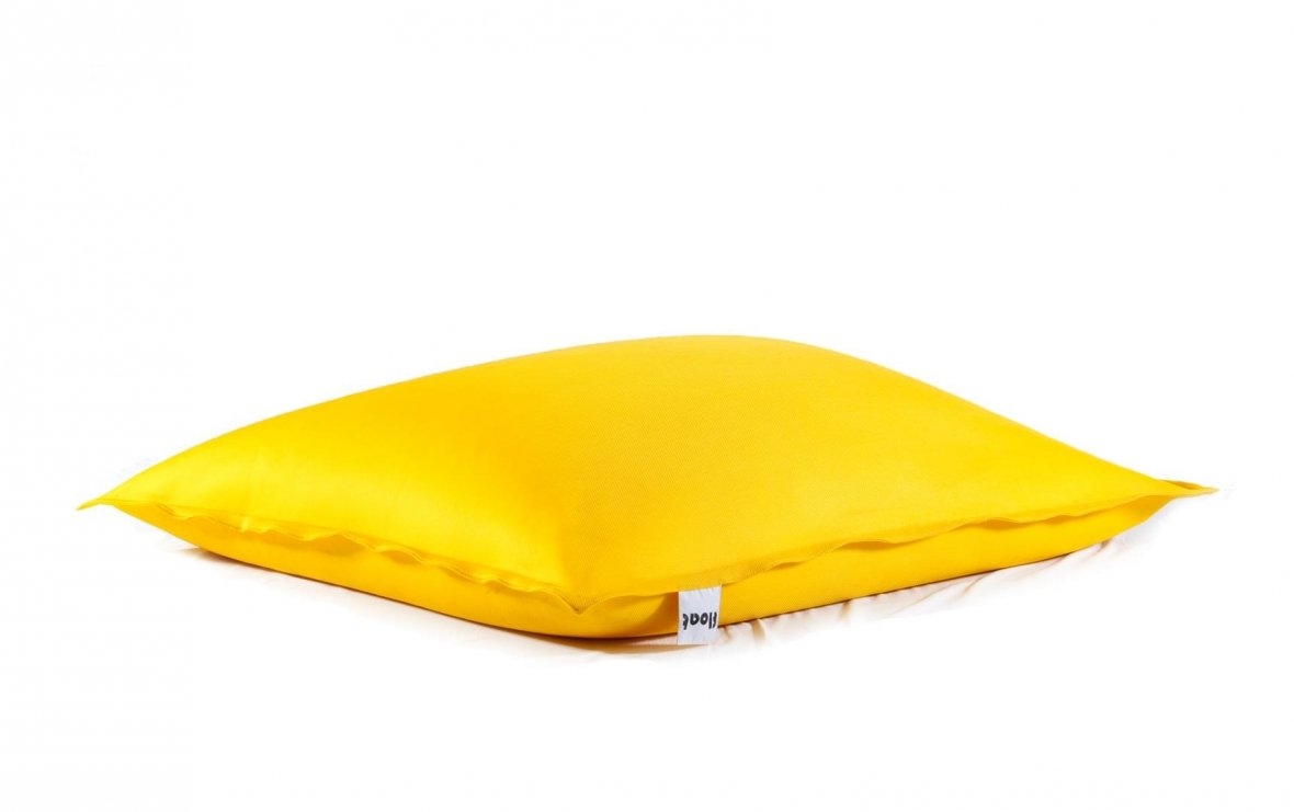 Yellow floating beanbag