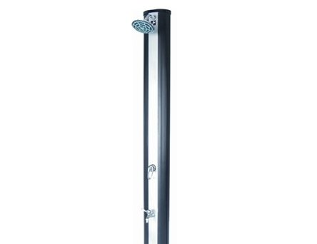 Straight-panel solar shower