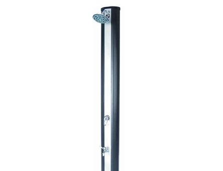 Straight-panel solar shower