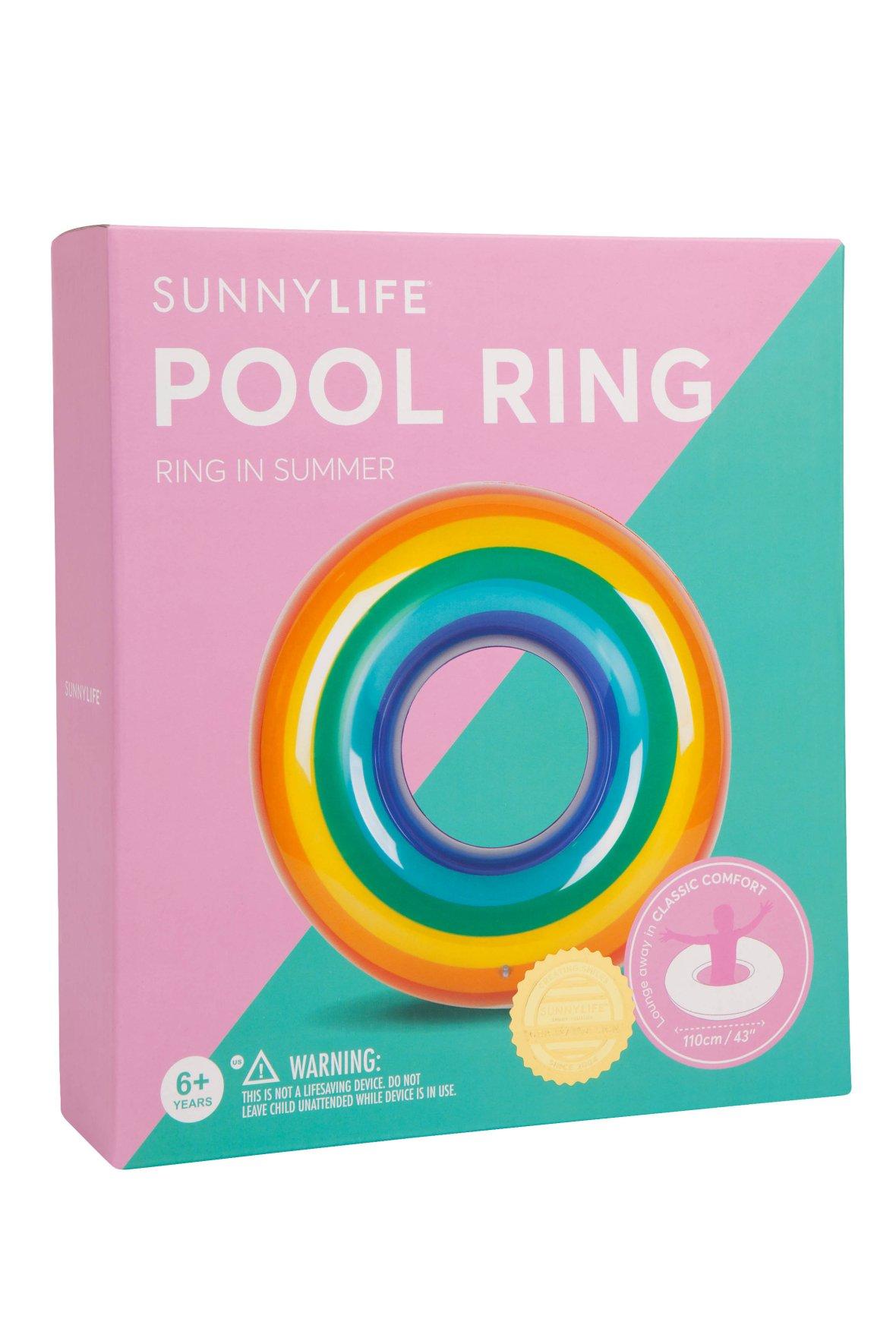 Rainbow Pool Float   Pool Ring