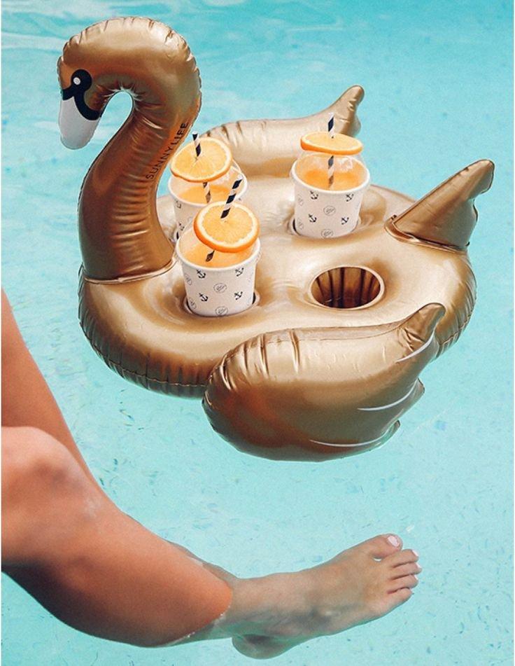 Inflatable drinks holder