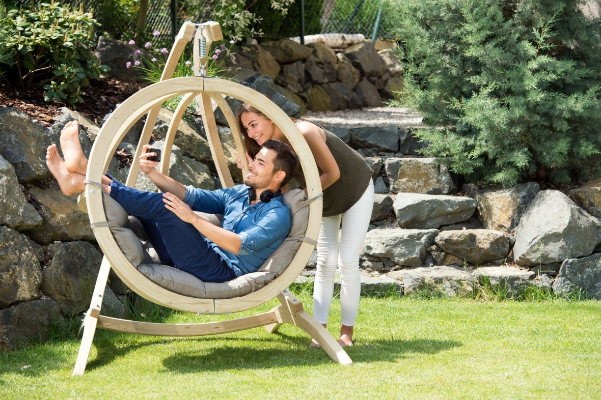 Hanging chair for the garden – Taupe