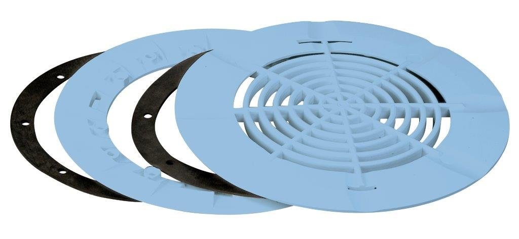 Aquareva vacuum bottom drain light blue