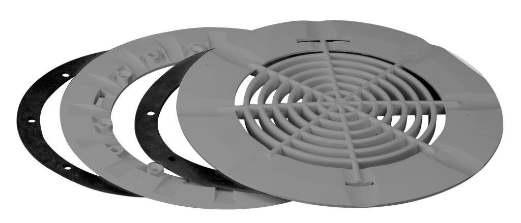 Aquareva vacuum bottom drain in grey