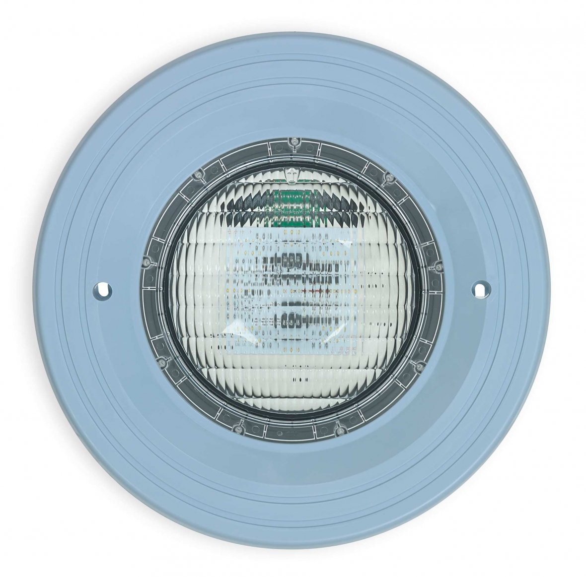 Colour LED lighting with light blue fixture