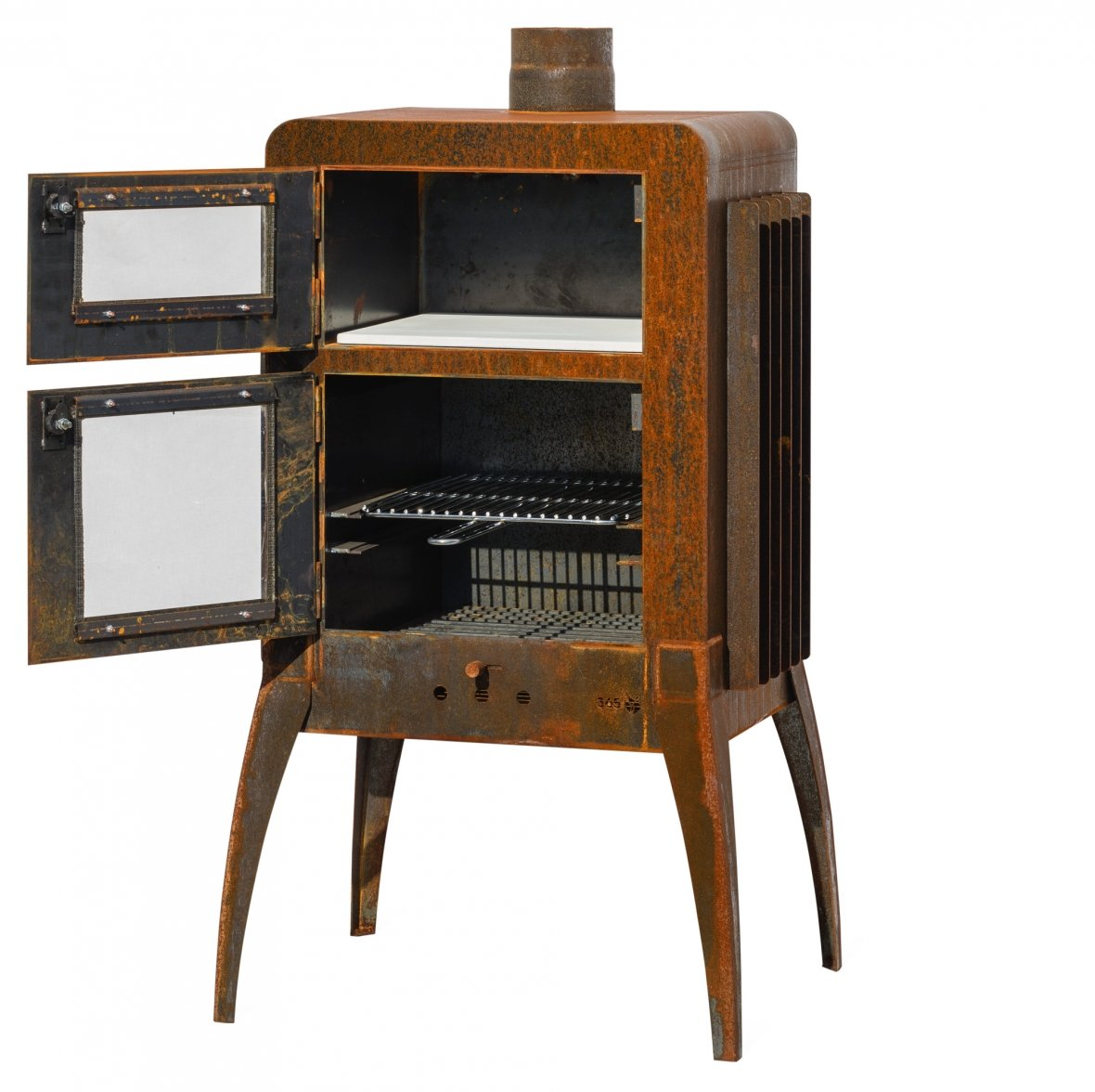 Openhaardontwerp met industriële vintage look