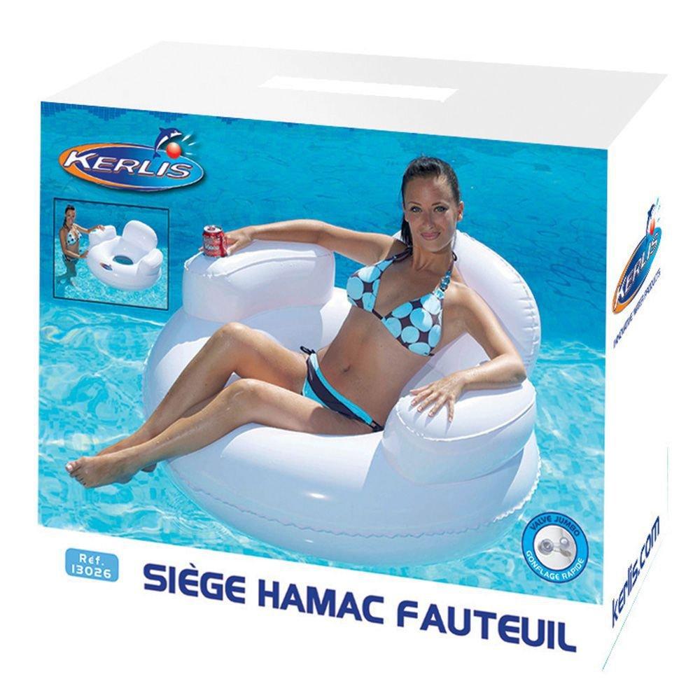 Kerlis comfortable swimming pool chair – White