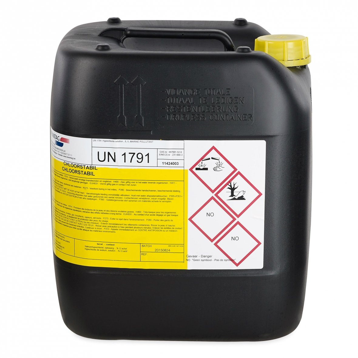 Liquid Chlorine BE-REG-00257   20L