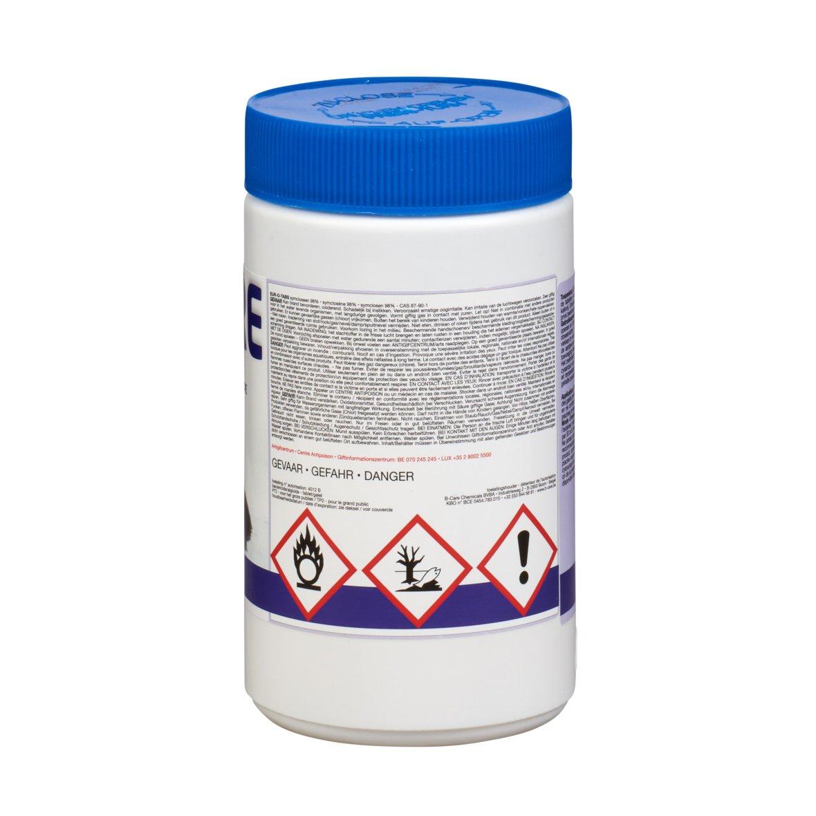 Chloor B-Care 1 kg tabletten 50x20g