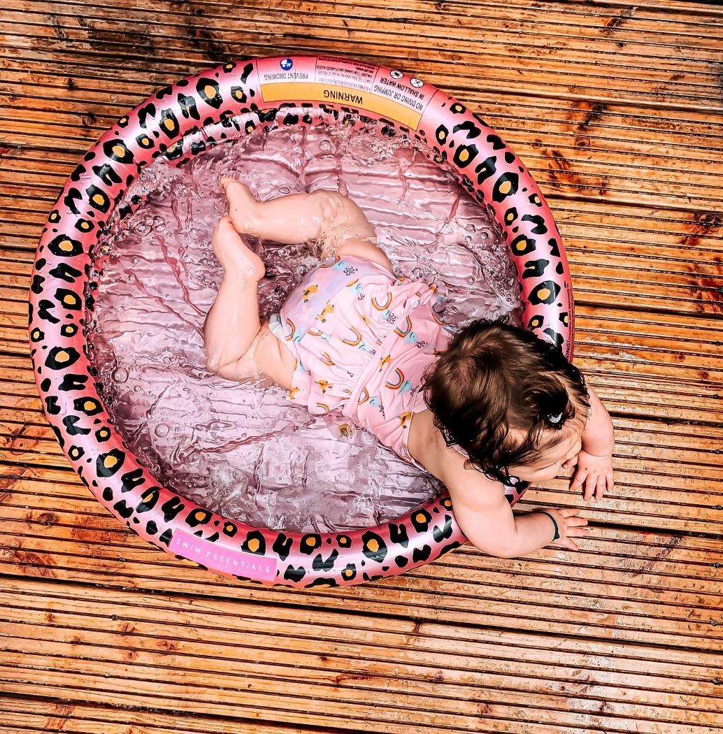 Baby pool Rose gold leopard print | Swim Essentials