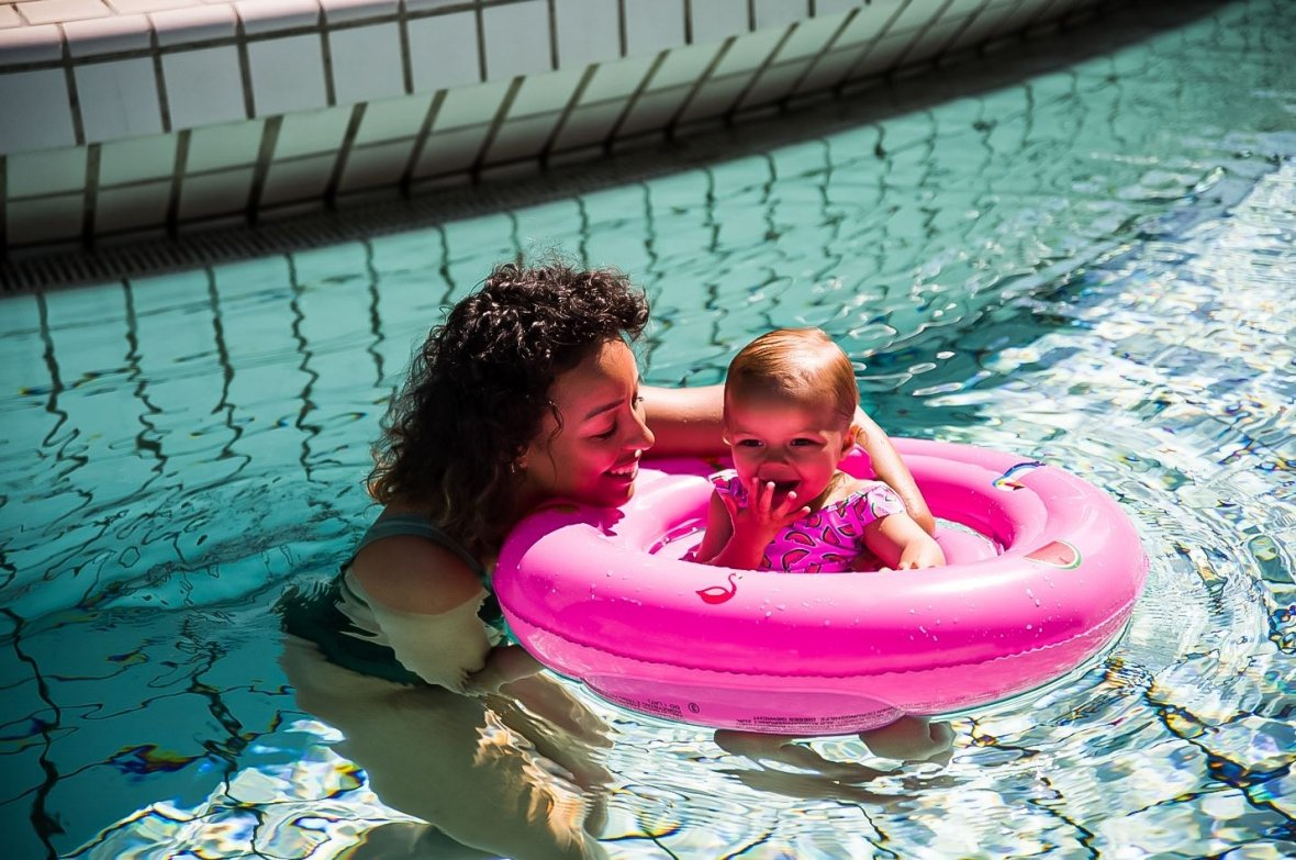 Baby swim seat Rose