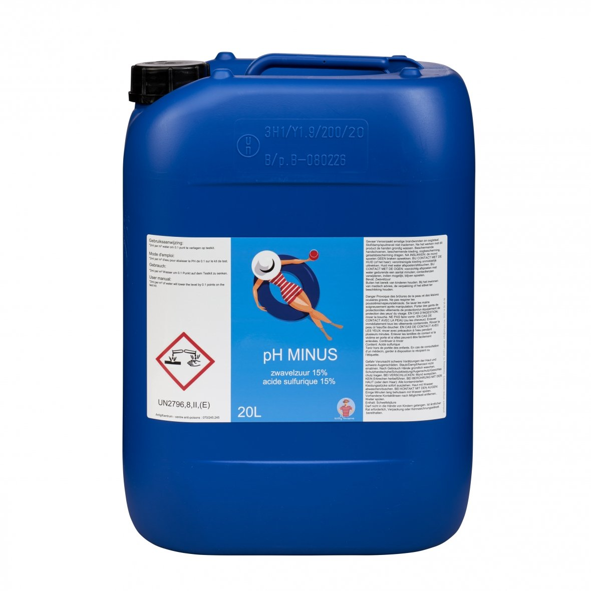 sulphuric acid for swimming pool 15%