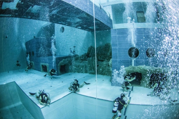 The deepest: Y-40 Deep Joy, Hotel Terme Millepini in Montegrotto Terme, Italy