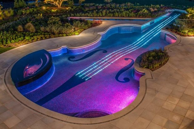 Most musical swimming pool