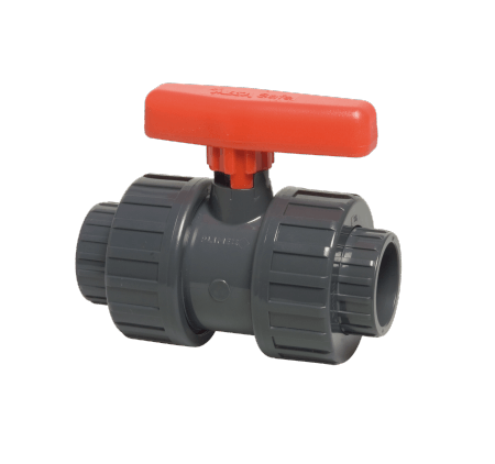 63 mm diameter PVC ball valve