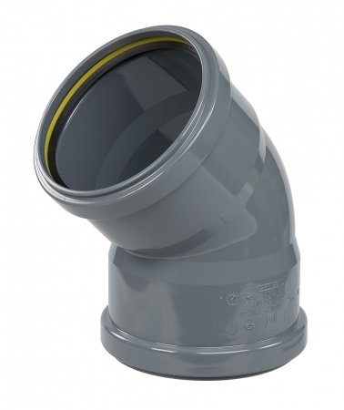 ø110 PVC 45° elbow for drain pipes
