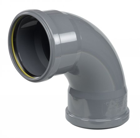ø110 PVC 90° elbow for drain pipes
