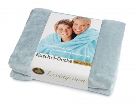 Luxury blanket – Aqua blue - 200x150cm