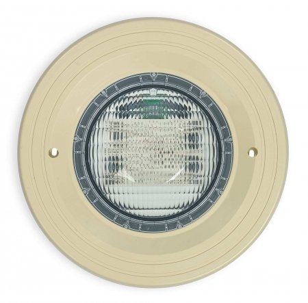 LED lamp with a beige fixture